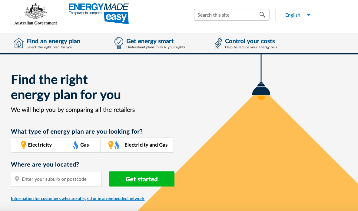 Energy Made Easy online tool