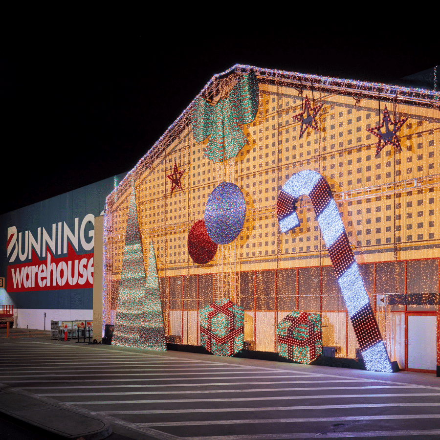 Bunnings Christmas activation by Bastion EBA